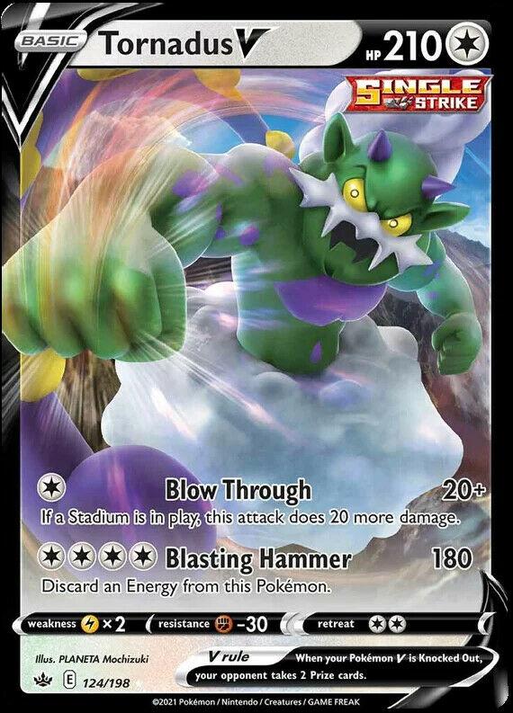Tornadus V 124/198 NM|M- Chilling Reign Pokemon