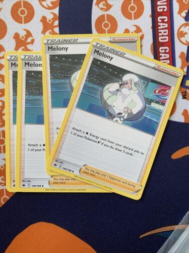 x4 Melony 146/198 Non Holo Trainer Rare Pokemon Chilling Reign