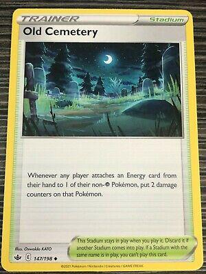 Pokemon : SWSH CHILLING REIGN OLD CEMETERY 147/198 UNCOMMON