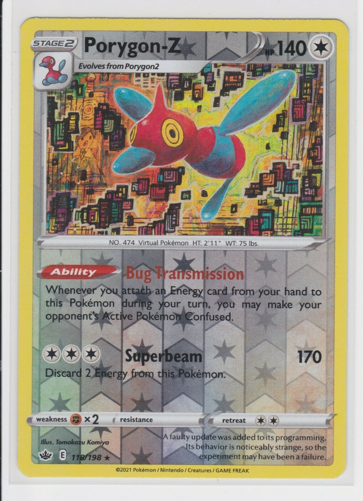 Porygon-z 118/198 Reverse Holo Chilling Reign - Image 1