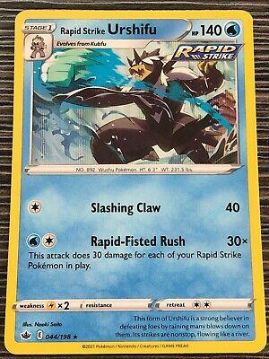 Pokemon : SWSH CHILLING REIGN RAPID STRIKE URSHIFU 044/198 RARE HOLO