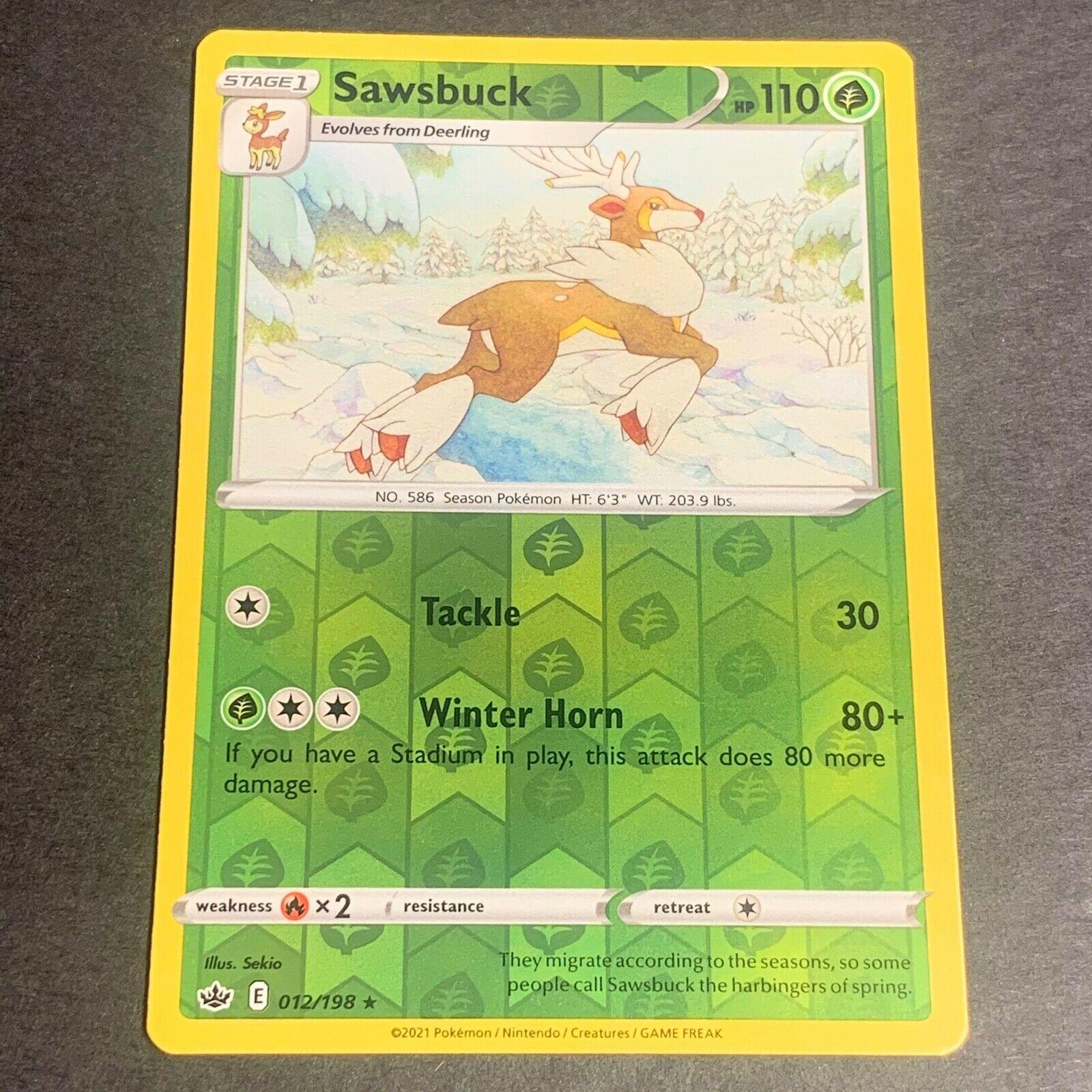 Pokemon S&S Chilling Reign REVERSE HOLO (R.) Sawsbuck 012/198 - Near Mint (NM)