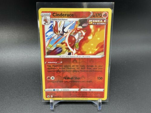 CHILLING REIGN CINDERACE 028/198 REVERSE HOLO