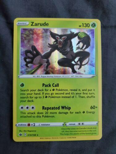 Zarude Card 019/198 SWSH Chilling Reign Pokemon Rare Holo Foil