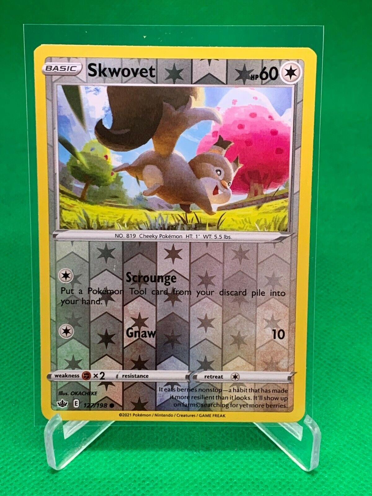 Pokemon - Skwovet - Chilling Reign - 127/198 - Reverse Holo
