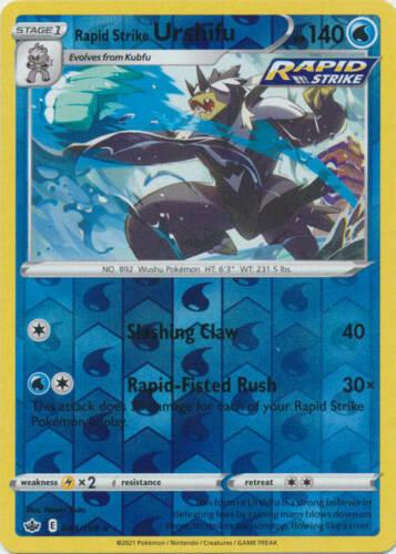 Pokemon - Rapid Strike Urshifu - 044/198 - Rev.Holo Rare - Chilling Reign - NM/M
