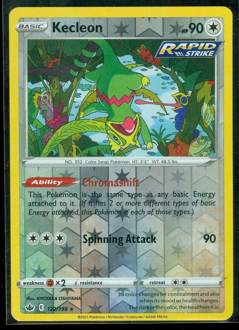 Pokemon KECLEON 122/198 Chilling Reign - RARE Rev Holo - - MINT