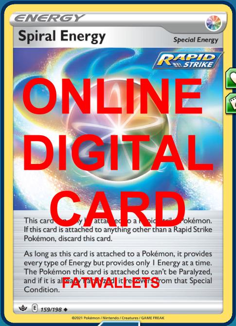 4X Spiral Energy 159/198 Chilling Reign Pokemon Online Digital Card