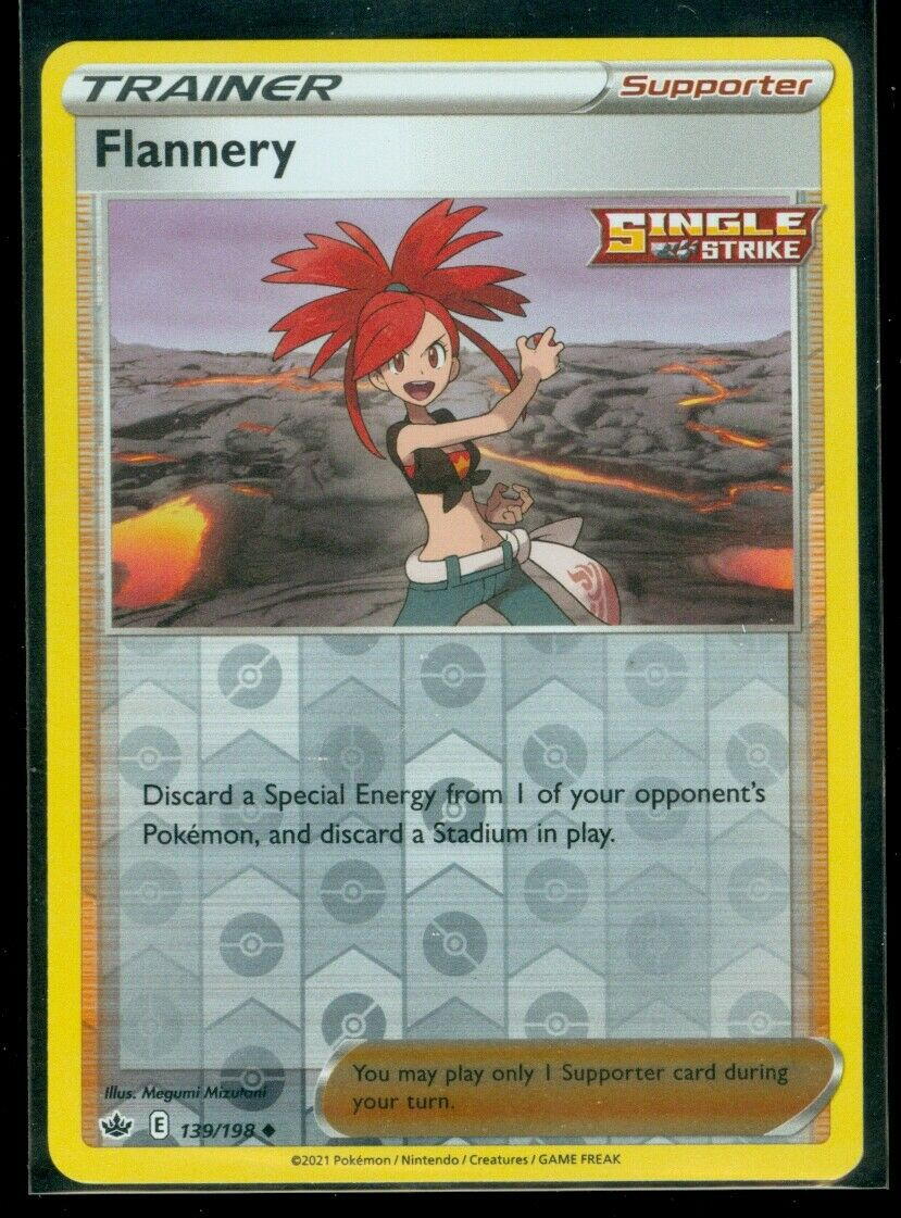 Pokemon FLANNERY 139/198 Chilling Reign - Rev Holo - MINT