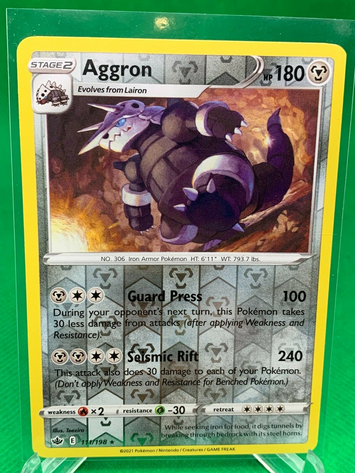 Pokemon - Aggron - Chilling Reign - 111/198 - Reverse Holo Rare