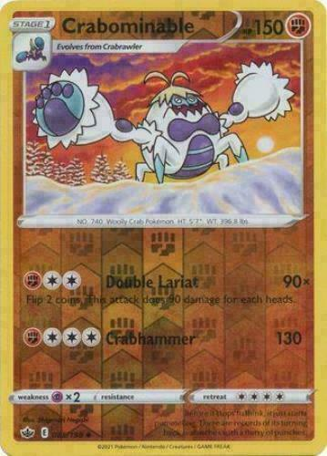 Pokemon -  Crabominable 085/198 - Reverse Holo - Chilling Reign - NM/M