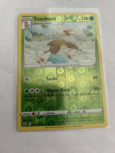Pokemon Card Chilling Reign Sawsbuck - 012/198 - Rare Reverse Holo NM/ Mint
