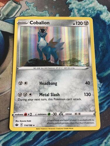 Pokémon Card - Cobalion 114/198 Chilling Reign Holo Rare Card