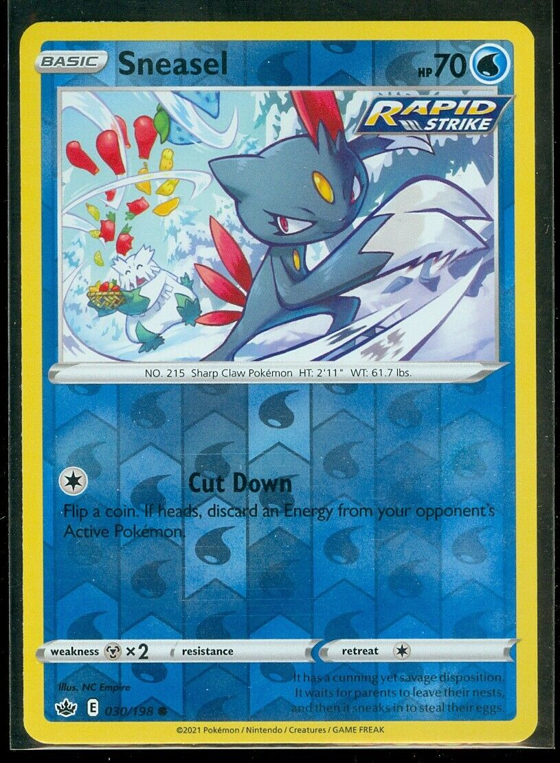 Pokemon SNEASEL 030/198 Chilling Reign - Rev Holo - - MINT