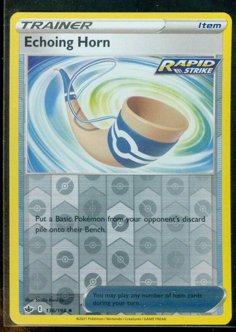 Pokemon ECHOING HORN 136/198 Chilling Reign - Rev Holo - MINT