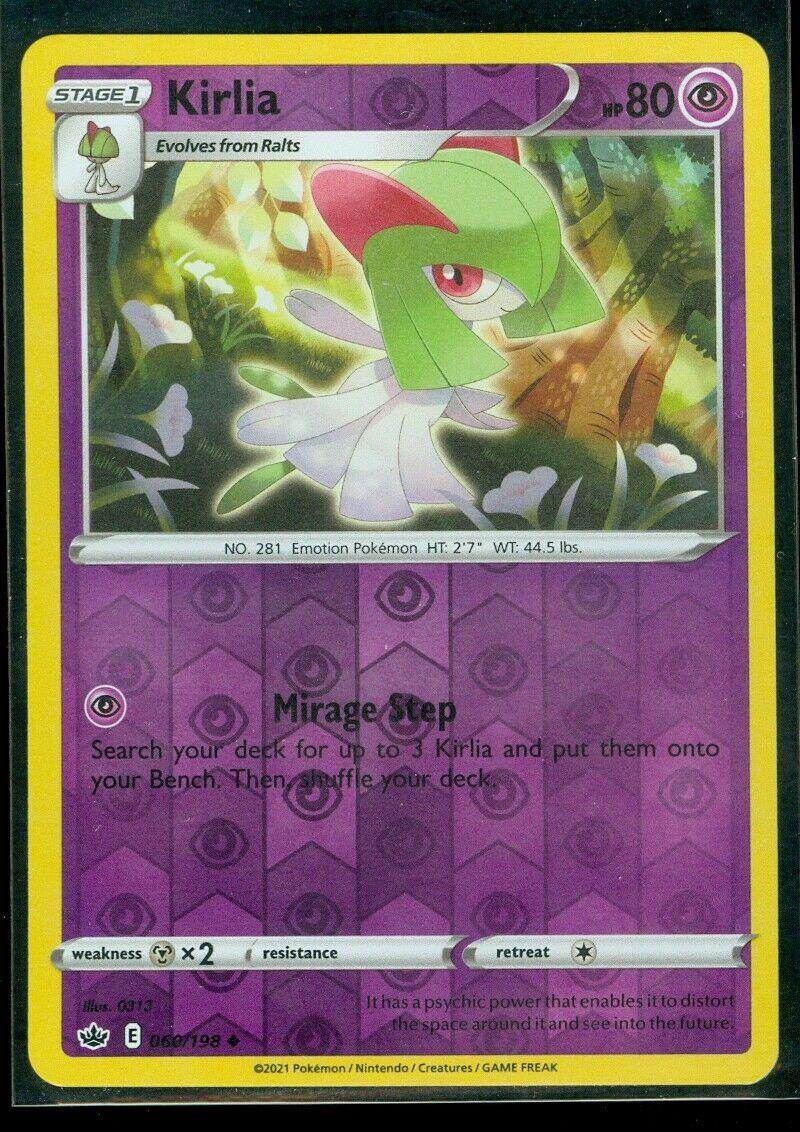 Pokemon KIRLIA 060/198 Chilling Reign - Rev Holo - - MINT
