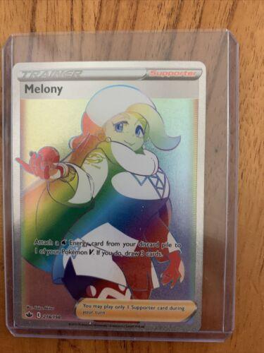 M/NM Melony Rainbow Rare Full Art 218/198 Pokemon ~ Chilling Reign ~ Centered!