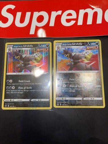 🔥X2 Pokemon - Single Strike Urshifu - Chilling Reign - 108/198 Holo Rare & Rev