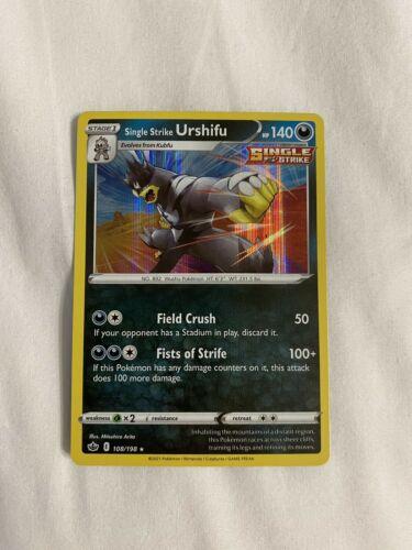 Pokemon SINGLE STRIKE URSHIFU 108/198 Chilling Reign - RARE HOLO - - MINT