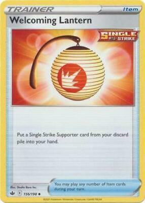 Pokemon Card Chilling Reign 156/198 Welcoming Lantern Item Uncommon
