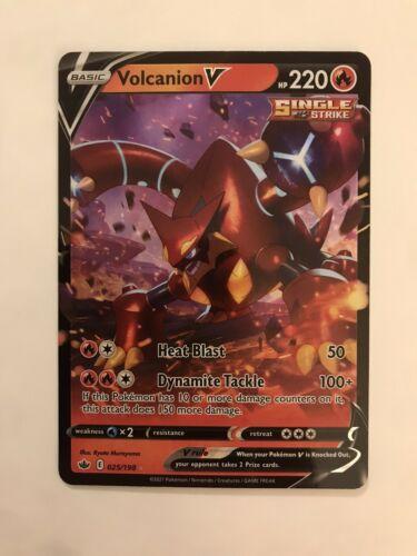 Pokemon - Volcanion V - Chilling Reign - 025/198 - Ultra Rare NM