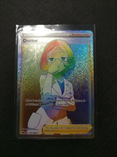 Doctor - Secret Rainbow Rare Full Art 214/198 - Chilling Reign - Pokemon M/NM