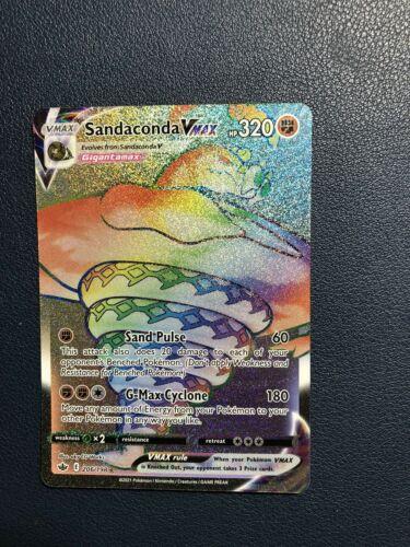 Sandaconda VMAX 206/198 Rainbow Rare Chilling Reign Pokemon