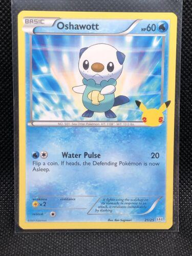Pokemon TCG - Oshawott 21/25 Non Holo - McDonald's 2021 Collection 25th - NM
