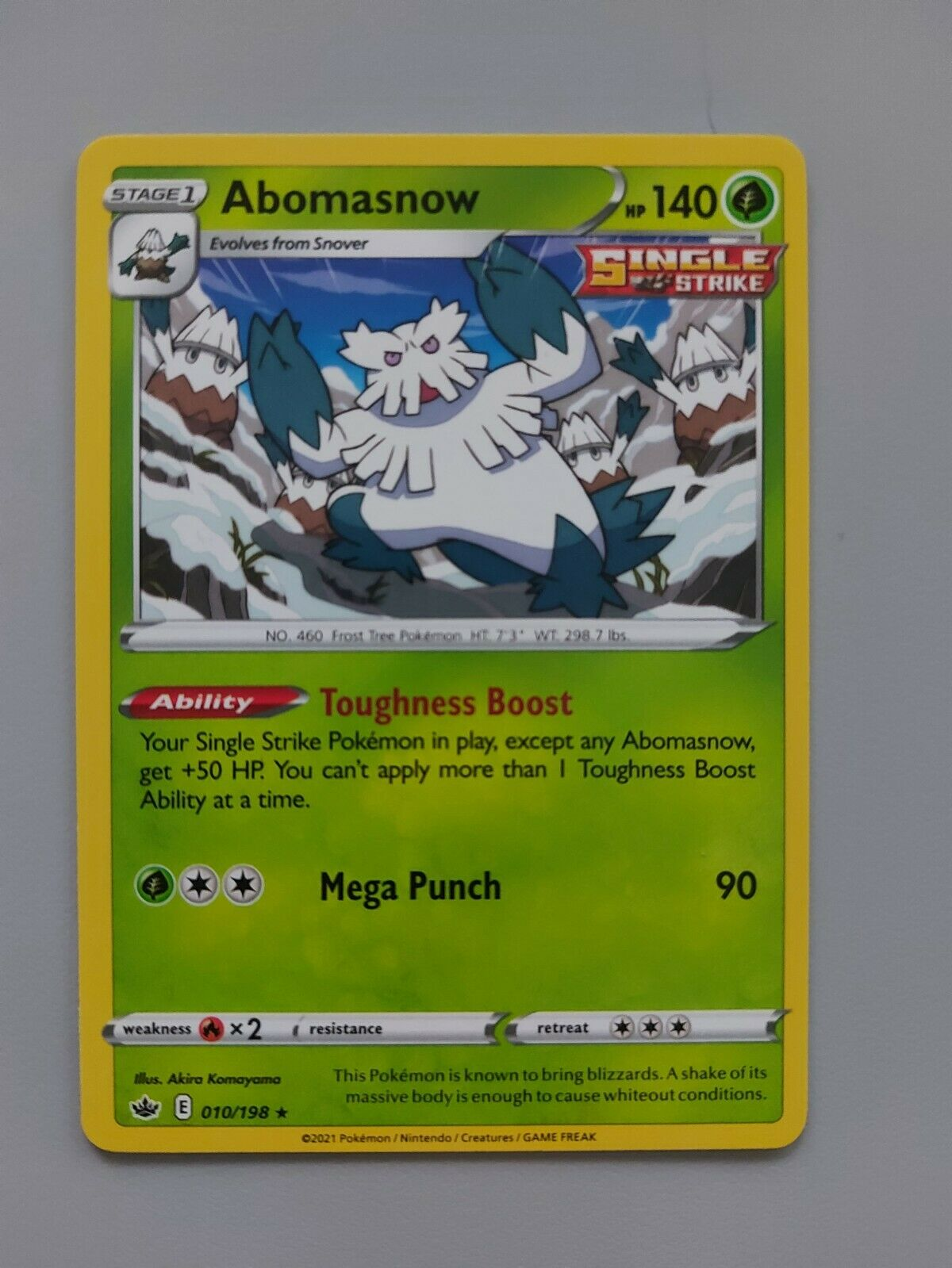 Pokemon TCG Chilling Reign - Abomasnow 010/198