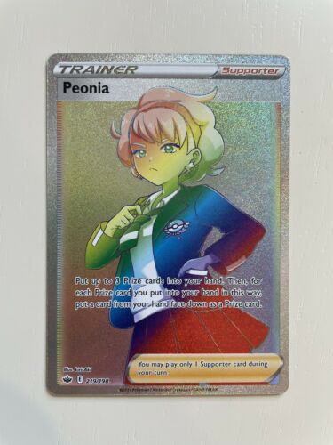 Pokemon TCG Peonia 219/198 Rainbow Secret Rare Chilling Reign - Mint Condition
