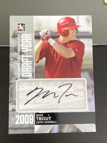 Mike Trout 2011 In The Game Heroes & Prospects Auto Draft Year Silver ITG - Image 1