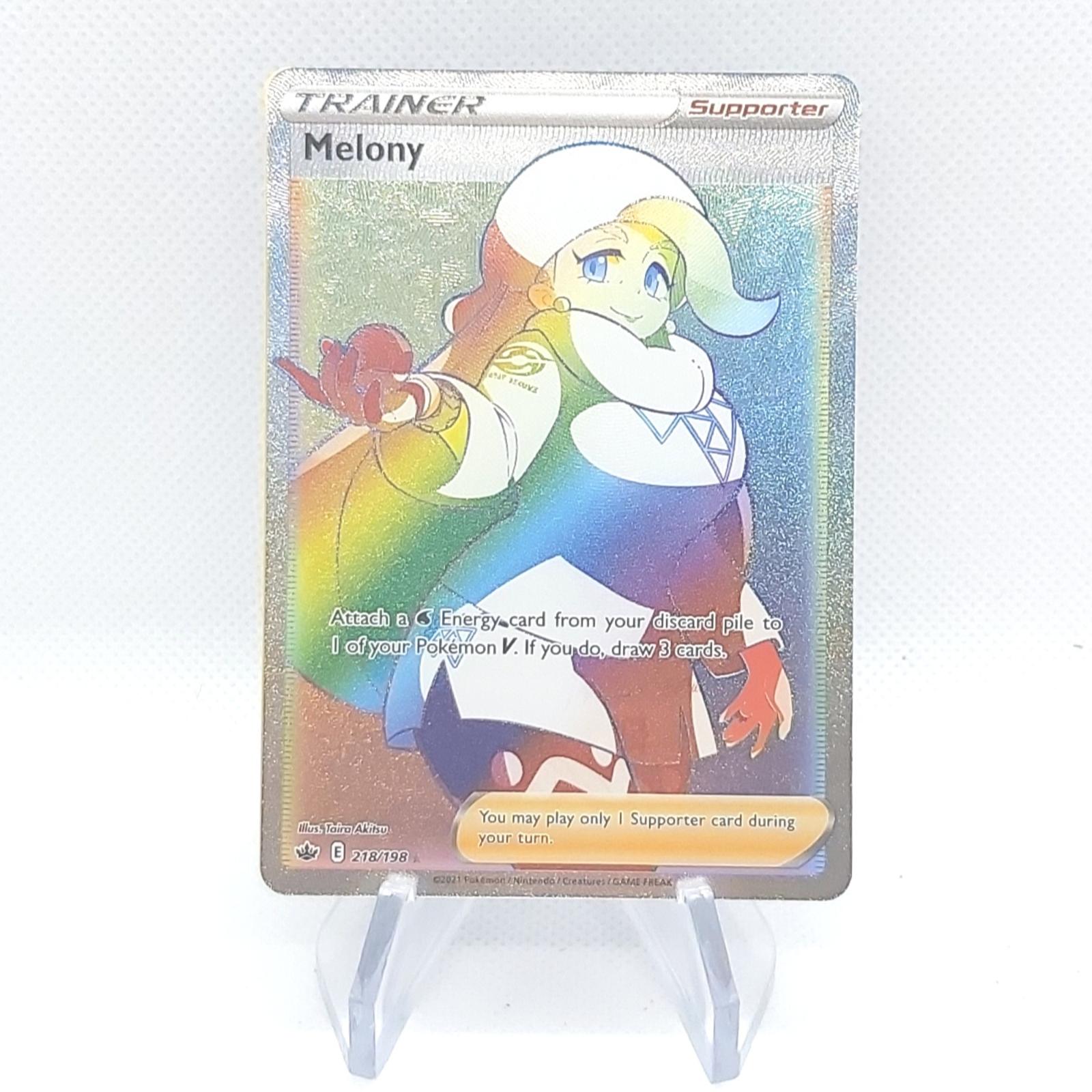 Secret Rare Melony 218/198 Full Art - Chilling Reign - Pokemon Card - Mint