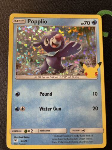 Popplio 23/25 Holo McDonald's 25 Anniversary Mint Pokemon TCG