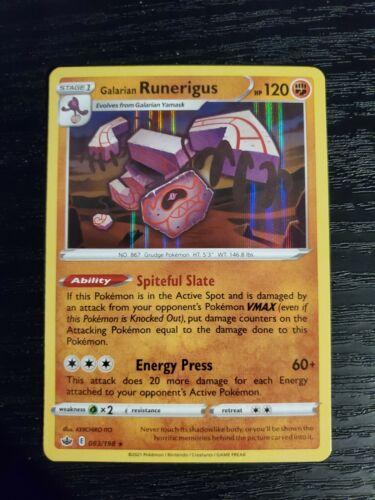 Galarian Runerigus 083/198 Chilling Reign Holo Rare Pokemon Card NM