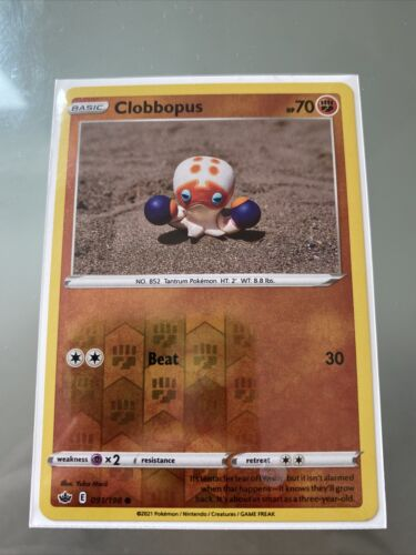 Clobbopus - SWSH Chilling Reign - Reverse Holo - 091/198