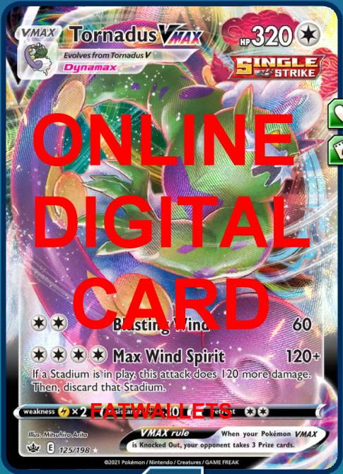 1X Tornadus VMAX 125/198 Chilling Reign Pokemon Online Digital Card