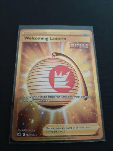 🔥Welcoming Lantern Gold Rare Secret 230/198 Holo Pokemon Card Chilling Reign🔥