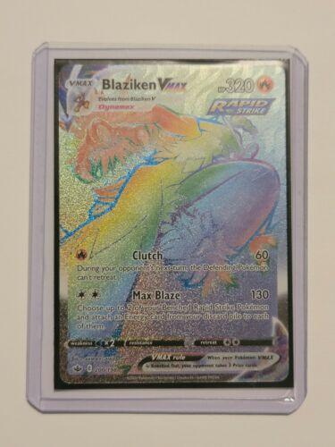 Pokemon Card Blaziken VMAX 200/198 Rainbow Rare Chilling Reign