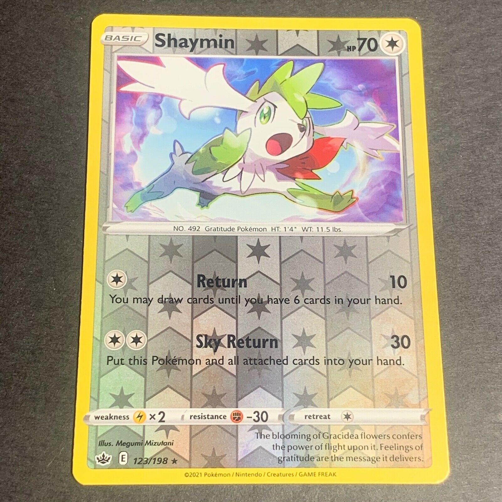 Pokemon S&S Chilling Reign REVERSE HOLO (R.) Shaymin 123/198 - Near Mint (NM)