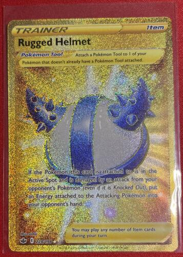 Secret Rugged Helmet 228/198 - Chilling Reign - Pokemon - NM