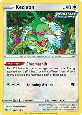 x4 Kecleon - 122/198 - Rare Pokemon SS06 Chilling Reign M/NM