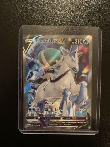 Ice Rider Calyrex V Full Art 163/198 NM|M- Chilling Reign Pokemon