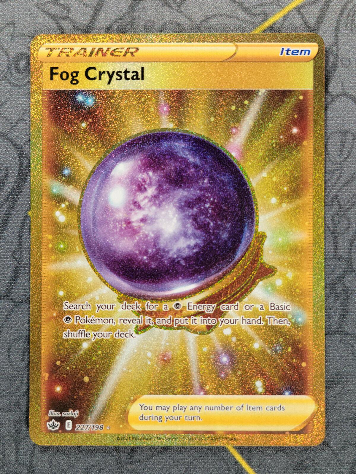 Fog Crystal 227/198 Gold Rare Chilling Reign Pokemon Card Mint/Near Mint