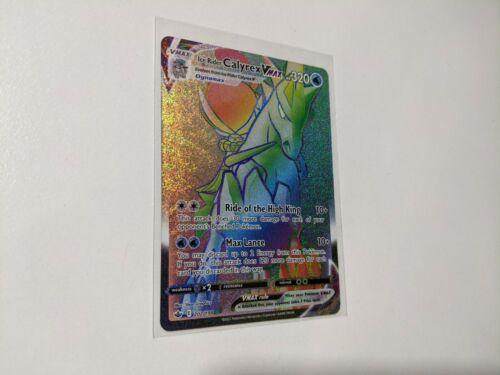 Ice Rider Calyrex Vmax Rainbow Rare - 202/198 - Chilling Reign - Pokemon Card NM