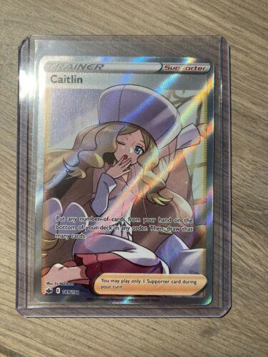 Pokémon Caitlin Full Art Trainer Supporter Chilling Reign Card 189/198