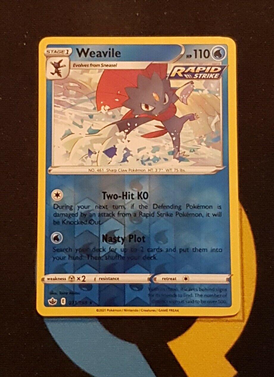 Weavile - 031/198 Chilling Reign - Rare Reverse Holo - Pokemon