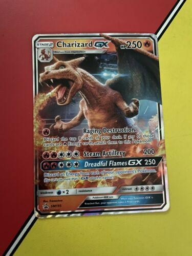 Pokémon TCG Charizard GX SM Black Star Promo SM195 Promo (Regular sized version)