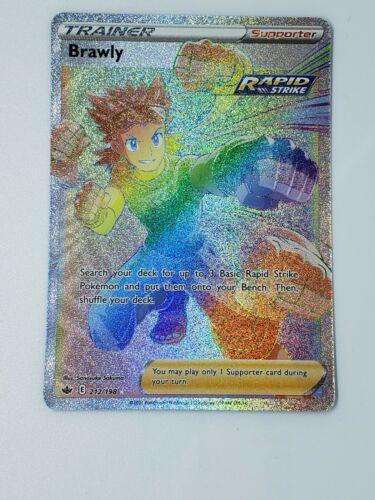 Pokemon TCG Chilling Reign Brawly Secret Rare 212/198 - Rainbow Rare Alternate