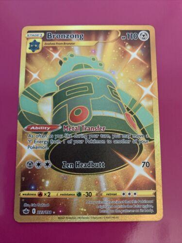 Bronzong Gold 223/198 Full Art NM/M Chilling Reign Pokemon Card