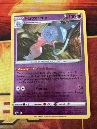 Hatterene 073/198 Reverse Holo Rare Pokemon Chilling Reign-NM